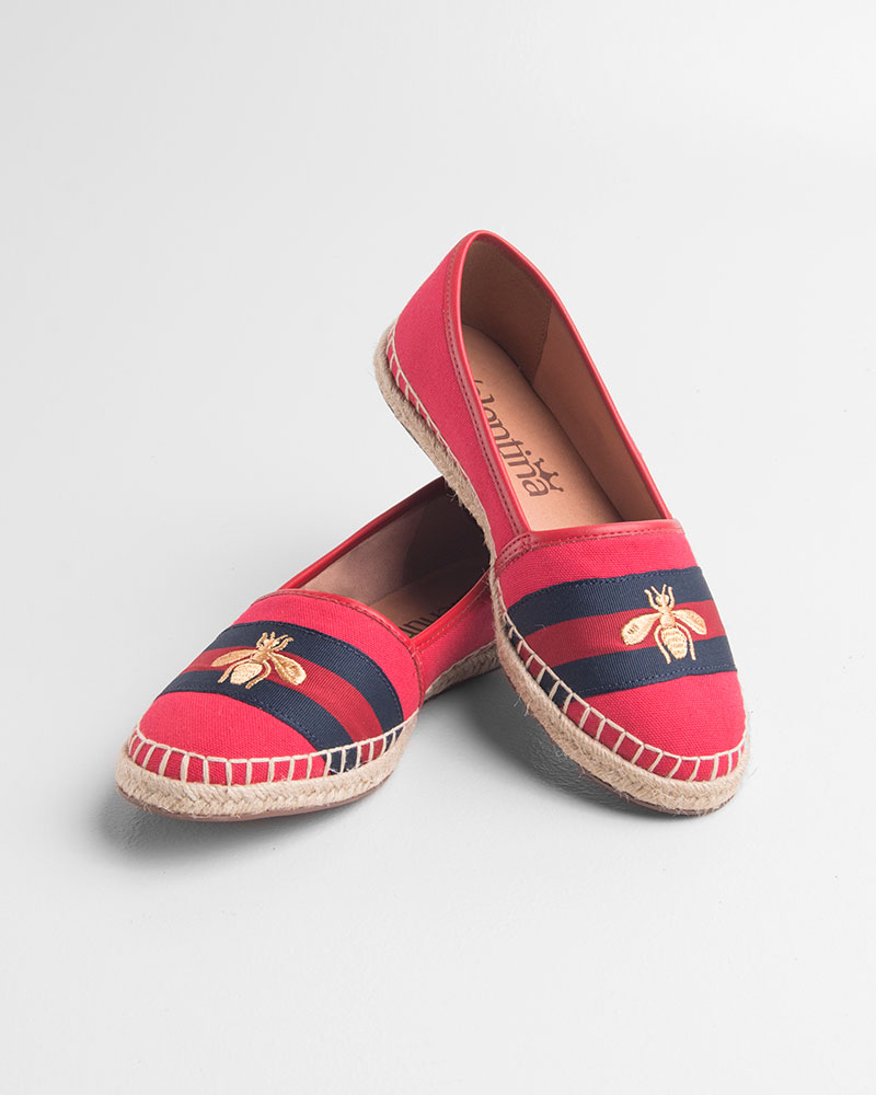 Espadrille Lona Red/Ouro