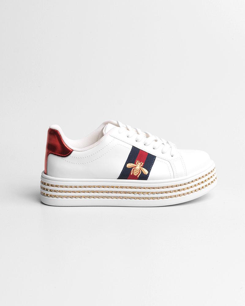 Tênis Duni Branco/Vermelho